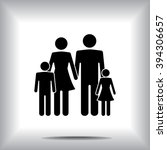 family sign icon  vector... | Shutterstock .eps vector #394306657