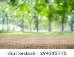 empty table and sack tablecloth ... | Shutterstock . vector #394313773