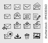 sketch mail icon | Shutterstock .eps vector #394330363