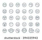set of thin line smile... | Shutterstock .eps vector #394335943