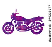 silhouette of motorcycle ... | Shutterstock .eps vector #394339177