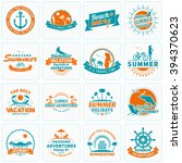 set of summer holidays design... | Shutterstock .eps vector #394370623