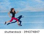 athlete runner running on... | Shutterstock . vector #394374847