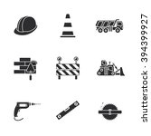 nine under construction icons | Shutterstock .eps vector #394399927