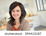portrait of smiling 40 year old ... | Shutterstock . vector #394413187