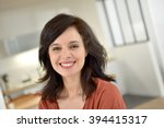 portrait of smiling 40 year old ... | Shutterstock . vector #394415317