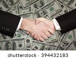 businessman handshake isolated... | Shutterstock . vector #394432183