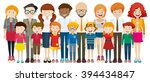 people with happy face... | Shutterstock .eps vector #394434847