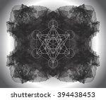 metatrons cube   flower of life.... | Shutterstock .eps vector #394438453