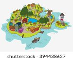 a peace island colored | Shutterstock .eps vector #394438627