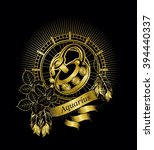 vector illustration zodiac sign ... | Shutterstock .eps vector #394440337