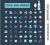 food and drinks icons  | Shutterstock .eps vector #394459153
