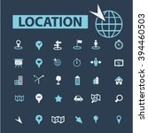 location icons  | Shutterstock .eps vector #394460503
