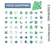 food shopping icons    Shutterstock .eps vector #394465813