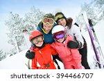 portrait of happy family of... | Shutterstock . vector #394466707
