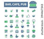 bar pub icons | Shutterstock .eps vector #394467343