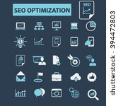 seo optimization icons  | Shutterstock .eps vector #394472803