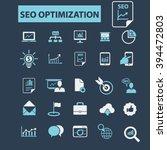 seo optimization icons    Shutterstock .eps vector #394472803