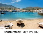 beach in cadaques on...   Shutterstock . vector #394491487
