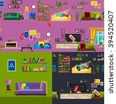furniture shop super... | Shutterstock .eps vector #394520407