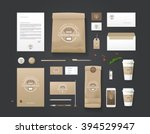 corporate identity template.... | Shutterstock .eps vector #394529947