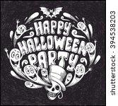 halloween background | Shutterstock .eps vector #394538203