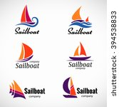 Sailboat Logo Vector Set Desig...