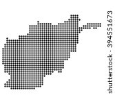 dotted map   afghanistan | Shutterstock .eps vector #394551673