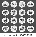 agricultural icons for web and...   Shutterstock .eps vector #394557997