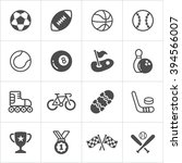 sports trendy flat icons.... | Shutterstock .eps vector #394566007