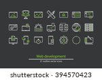 set of vector web development...