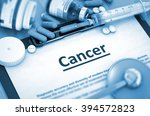 cancer  medical concept with... | Shutterstock . vector #394572823
