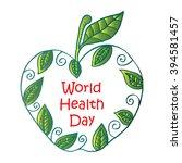 world health day greeting... | Shutterstock .eps vector #394581457