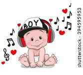 Cute Cartoon Baby With...