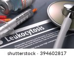 leukocytosis   printed... | Shutterstock . vector #394602817