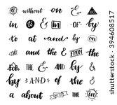 set of hand lettered ampersands ... | Shutterstock .eps vector #394608517