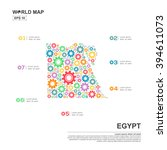 map of egypt infographic design ... | Shutterstock .eps vector #394611073