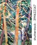Watercolor Pine