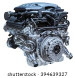 modern car engine isolated on... | Shutterstock . vector #394639327