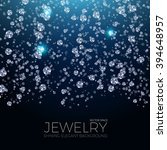 shining background for jewelry... | Shutterstock .eps vector #394648957