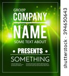 poster template with shining... | Shutterstock .eps vector #394650643