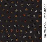 seamless geometric vector... | Shutterstock .eps vector #394658677
