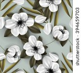 sakura blossom seamless pattern ...   Shutterstock .eps vector #394659703