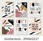 collection of 6 creative poster ... | Shutterstock .eps vector #394662217