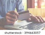 asian business man using laptop ... | Shutterstock . vector #394663057