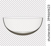 transparent glass bowl isolated ... | Shutterstock .eps vector #394664623