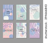 vector illustration set of... | Shutterstock .eps vector #394666843
