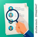 concept of human resources... | Shutterstock .eps vector #394669447