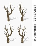 dried tree. 3d lowpoly... | Shutterstock .eps vector #394672897