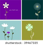 collection funny floral cards | Shutterstock .eps vector #39467335